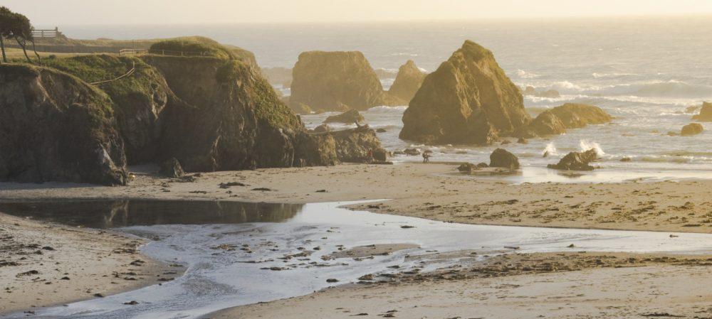 scenic view of the North coast of California near Fort Bragg