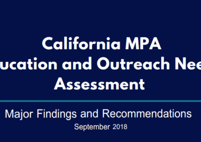 New Report Identifies Gaps in MPA Outreach and Education inCalifornia