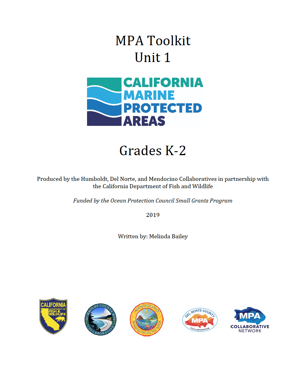 MPA Teacher Toolkit Unit 1: Grades K-2