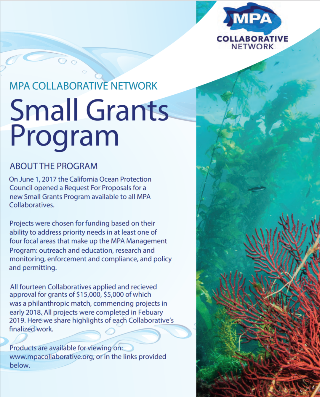 Small Grants Program – Summary Document
