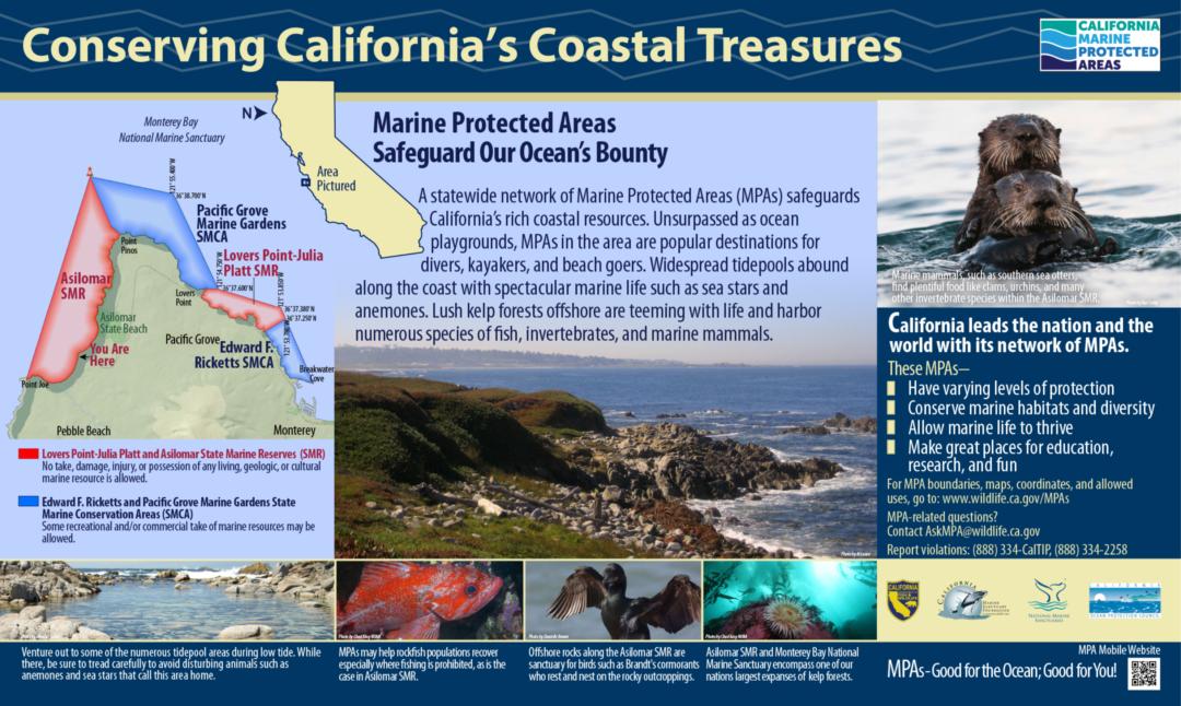 Conserving California's Coastal Treasures Sign: Asilomar