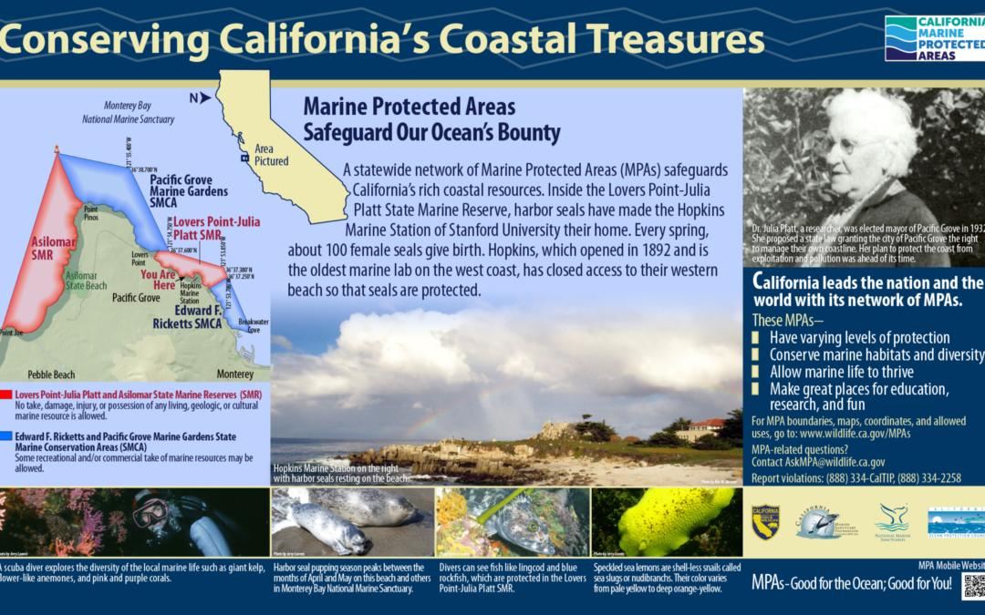 Conserving California's Coastal Treasures Sign: Monterey Peninsula