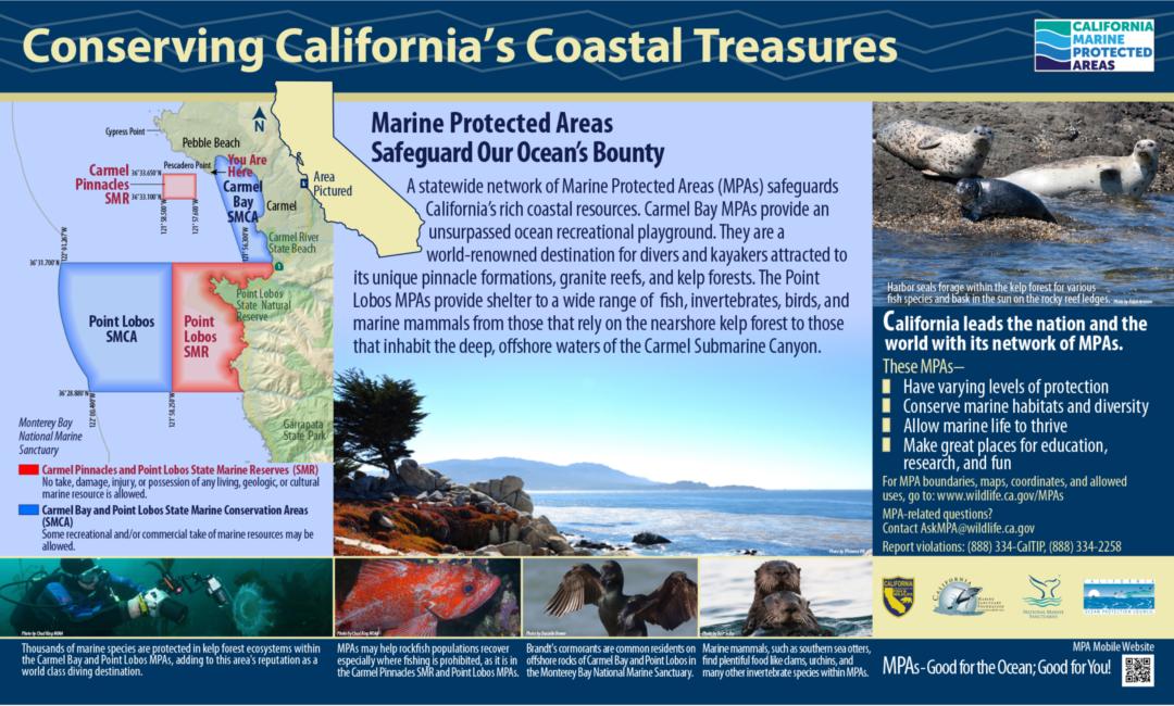 Conserving California's Coastal Treasures Sign: Point Lobos and Carmel Bay