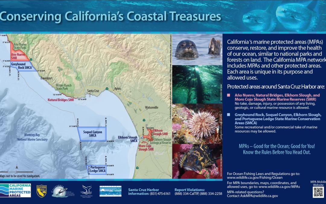 Conserving California's Coastal Treasures Sign: Santa Cruz Harbor
