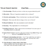 Tidepool Research Worksheet