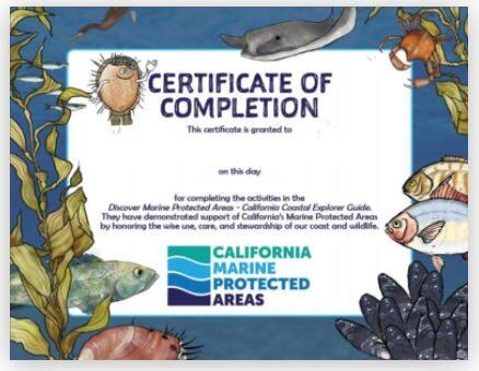 MPA Quiz for Discover Marine Protected Areas – California Coastal Explorer Guide