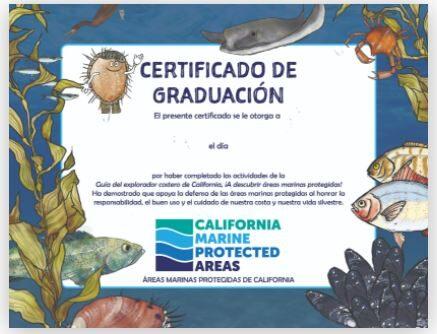 Prueba de MPA por a Descubrir Areas Marinas Protegidas: Guía del Explorador Costero de California