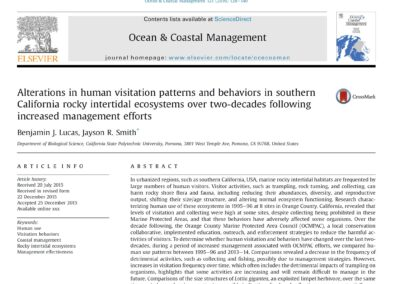Alterations in human visitation patterns and behaviors in southern California rocky intertidal ecosystems over two-decades following increased management efforts